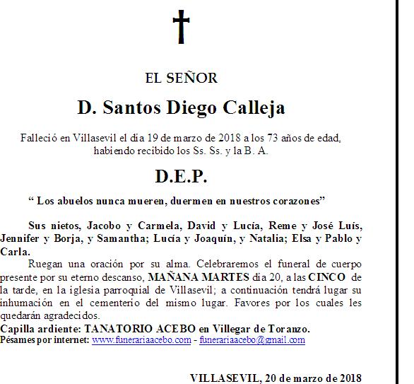 D. Santos Diego Calleja